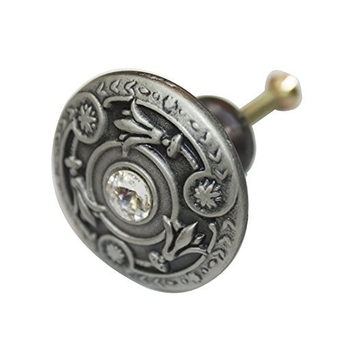 Antik Zinn 37mm Knopf, Möbel Schrank Brust Schublade Pull k0048