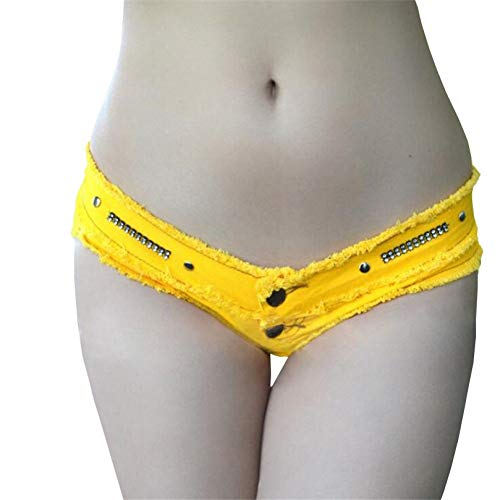 DAIDAICDK Sommer Denim Shorts Heißer Jeans Kurze Niedrige Taille Quaste Micro White Mini Denim Shorts Frauen Shorts -