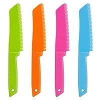 ONUPGO 4-Piece Plastic Kitchen Knife Set - Chef Nylon Knife/Children