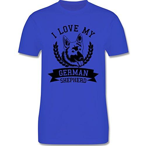 Hunde - I love my German Shepherd - Herren Premium T-Shirt Royalblau