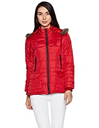 Fort Collins Womens Cape Hoodie (89263 AZ-Red_M)
