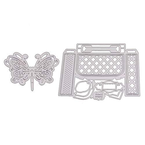 Xurgm - Set di 2 fustelle a forma di farfalla, per scrapbooking, per decorazioni natalizie