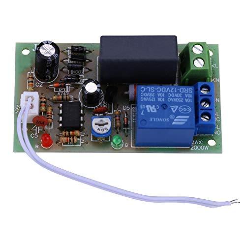 Rele Temporizzato, Akozon Modulo Relè Temporizzatore Timer Module AC220V Delay Timer Switch Ingresso/Uscita Timer Trigger di Spegnimento Tempo Regolabile(1sec~60sec)