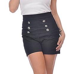 Steady Pantalón corto - para mujer negro negro