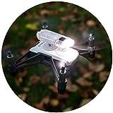 Robot de Drone Headlight/LED Luz ryze Tello dron accesorios lámpara–45lúmenes hellweiß–drohnen accesorios (Tello Drone, funcionamiento mediante DJI), transparente