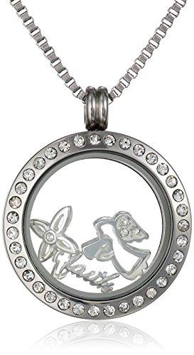 Amazon Charmed Lockets Faith Pendant Necklace Charm Set 24
