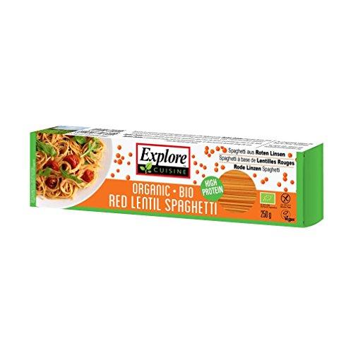 Explore Cuisine - Spaghetti aus roten Linsen, BIO, vegan, glutenfrei, 250g (Bio-linsen)