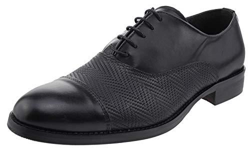 Versace 19V69 Italia Business Leder Schnürschuhe schwarz, Groesse:41.0