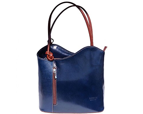 Florence Leather zaino borsa, Black & Brown (multicolore) - 207 Blue & Brown