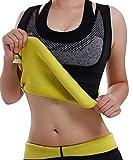 Frauen Fitness figurformend Unterbrust Taillenmieder Bauchweg & Sauna Schwitzeffekt Sport Training Body Shapewear flexibel stark formend Taillenformer Neopren Weste (6 Größen verfügbar) (Schwarz, M)