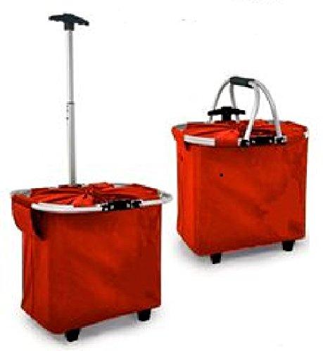 joka international GmbH Einkaufstrolley 2 in 1 Shopping Klapptrolley rot 14099