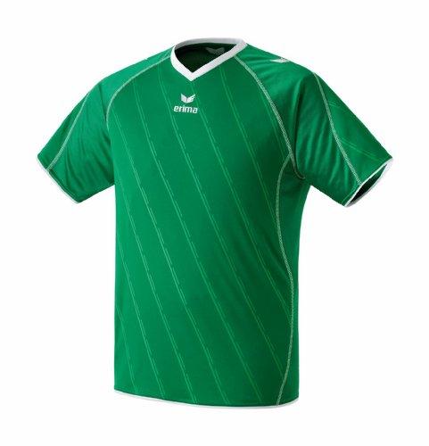 erima Trikot Roma - Camiseta de equipación de fútbol para hombre, color verde/blanco, talla S