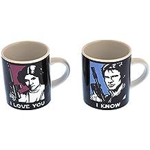 Juego de tazas pequeñas Han Solo y Princesa Leia - Set de 2 tazónes mini La Guerra de las Galaxias - Star Wars - Han Solo and Princess Leia