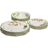 Churchill Victorian Orchard - Vajilla de loza inglesa, tamaño 18 piezas, color blanco