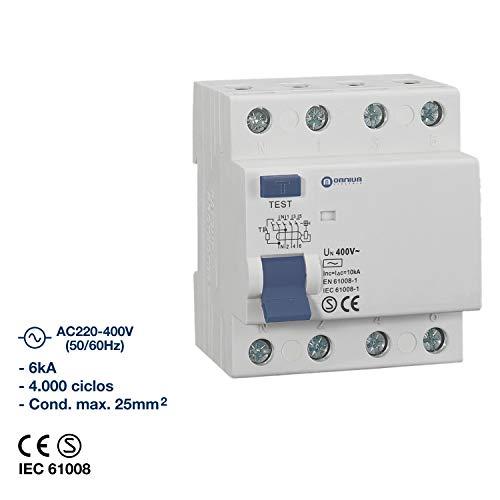 Diferencial Omnium Electric (4P x 40A-300mA-AC)