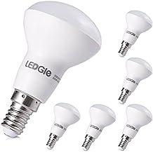 LEDGLE E14 6W Bombilla LED, Bombillas LED, 500lm, Blanco Cálido, 3000K, ángulo de Haz de 120 °, Equivalente a Una Bombilla de Bajo Consumo Tradicional de 50W, Bombilla no Regulable, 6 Piezas
