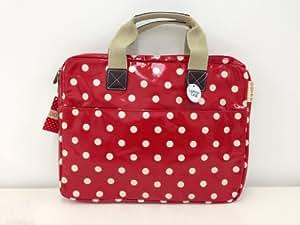Polkadot Oilcloth Laptop Bag / Case