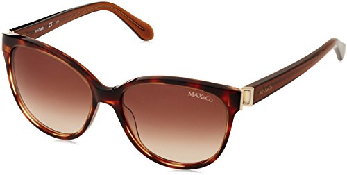 Womens Max&CO.274/S 8J BG4 Sunglasses, Black Dark Havana/Brw Sf Flsilver, 51 Max & Co.