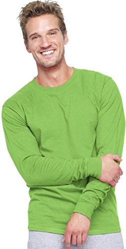 Hanes Adult Beefy-T Long-Sleeve T-Shirt Lime