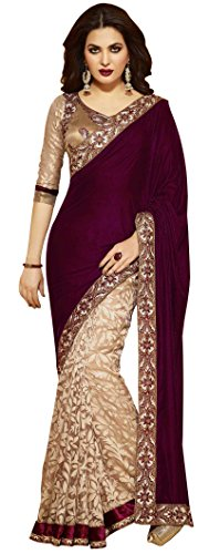Women's Clothing Obliging Party Wear Bollywood Designer Pink Gold Ombre Georgette Floral Bridal Saree Sale Other Women's Clothing