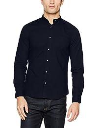 Nowadays Herren Freizeithemd Double Collar Shirt