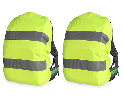 havalime 2er Set Regenschutz Rucksack Schulranzen Regenhülle - 54x34 cm Schutzhülle für Ranzen reflektierend wasserabweisend - Regenschutzhülle