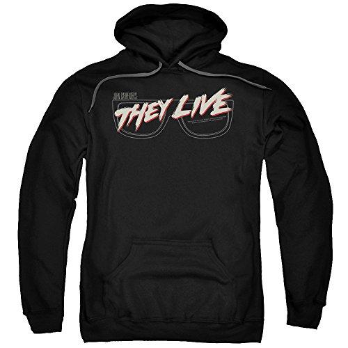 They Live-Felpa da uomo, con Logo Nero