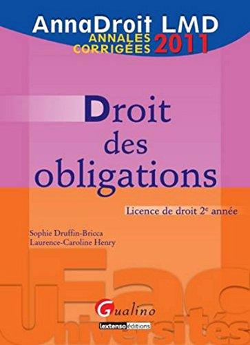 AnnaDroit 2011. Droit des obligations, 12ème édition