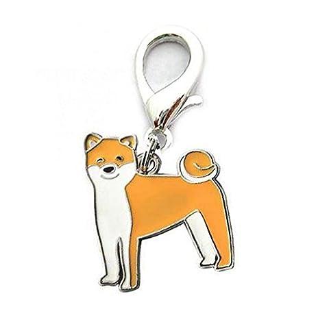 LanLan Woman Bag Charm Gift Lovely Puppy Pendant Keyring Keychain Metal Dog Key Chain Shiba Inu