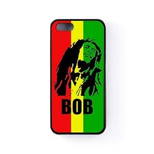 Bob Marley Coque Silicone Noire Snap-On Protection Arrière Caoutchouc pour Apple® iPhone 5 / 5s de Chargrilled + Livré avec une protection d'écran GRATUITE