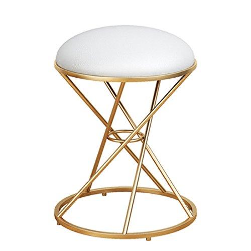 Schmiedeeisen-sofa (DYFYMX,Mode Hocker Mode Schmiedeeisen kleinen Hocker, Stoff Sofa Hocker einfachen Schuh Bank Make-up Stuhl Dressing Hocker Möbel (Farbe : A))