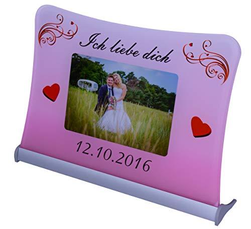"""Acrylglas Schild""""Ich liebe dich"""", mit persönlichem Fotodruck auf 6 mm Glas/personalisierbar"""