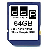 DSP Memory Z 4051557438491 64 GB Memory Card for Nikon Coolpix 500