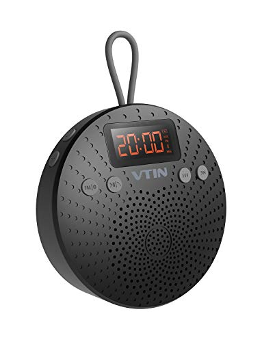 VicTsing Altavoz Bluetooth Ducha Impermeable, radio FM y pantalla LCD digital, duración...