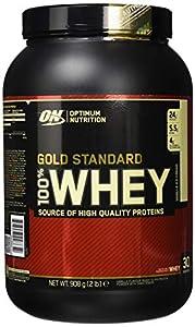 Optimum Nutrition Gold Standard Whey Eiweißpulver (mit Glutamin und Aminosäuren, Protein Shake von ON), Vanilla Ice Cream, 29 Portionen, 0.9kg