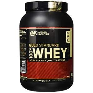 Optimum Nutrition Gold Standard Whey Eiweißpulver (mit Glutamin und Aminosäuren, Protein Shake von ON), Vanilla Ice Cream Eiweiß, 29 Portionen, 0,9kg