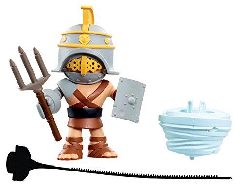 World of Warriors – Crixus le Gladiateur Romain – Figurine Attaque Spéciale 14 cm