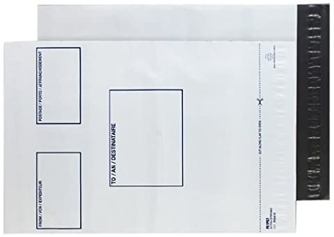 Purely Packaging Peel and Seal C3+ 430x330mm Polythene Mailing Pocket with Address Panel - White (Pack of