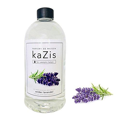 KAZIS I LAVENDEL DUFT I Lampe Berger Raum-Duft Alternative I Parfums de Maison I Nachfüll-Öl (Refill) I 1000 ml I 1 Liter I katalytische Lampe (Duft Wäsche Refill)