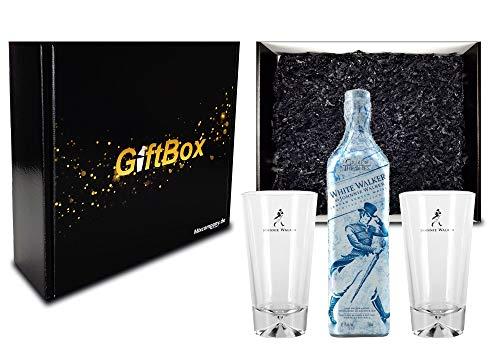 lker by Johnnie Walker Limitierte Edition Game of Thrones Blended Whisky 0,7l (41,7% Vol) + 2 Longdrink Gläser Glas Set Geschenkverpackung Geschenk Box Whiskey- [Enthält Sulfite] ()