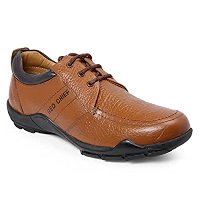 Red Chief Men's Elephant Tan Leather Boat Shoes - 10 UK/India (44 EU)(RC3460 107)