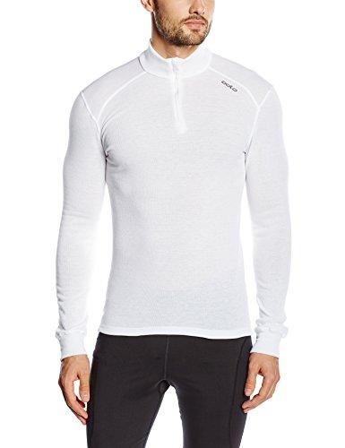 Odlo Herren l/s Turtle Neck 1/2 Zip Warm Shirt weiß