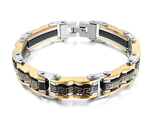Beydodo Edelstahl Armband (Gliederarmband) Für Herren Handgelenk Verbindung Kette Silber