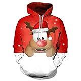 AMUSTER Männer Herren Hoodie Kapuzenpullover 3D Druck Weihnachten Sweatshirt Pullover Lässiger Langarm Tops Jumper Pulli Kapuzenpulli