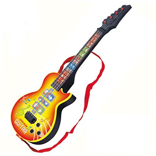 Finer Shop 4 Saiten Music e-Gitarre Kinder Musikinstrumente Pädagogisches Spielzeug - Gelb