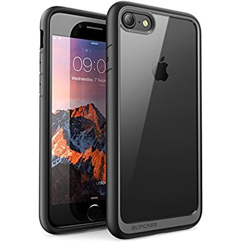 Funda iPhone 7, SUPCASE Unicorn Beetle Style Premium Funda protectora transparente híbrida para Apple iPhone 7 2016 Release (negro)