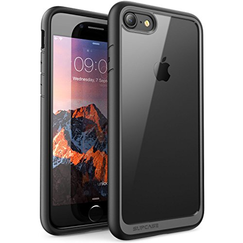 SUPCASE Hülle für iPhone 8 Handyhülle Premium Case Hybrid Schutzhülle, Transparent Cover [Unicorn Beetle Style] für iPhone 7 / iPhone 8, Schwarz - Apple 7 Iphone Entsperrt