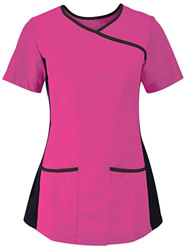 Alexandra da camice elasticizzato Pink/ Black XX-Large