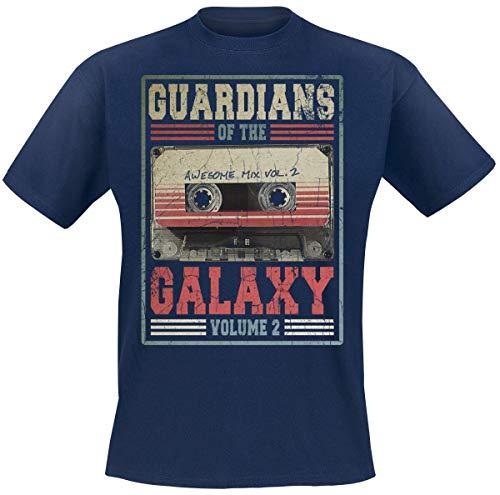 Guardianes De La Galaxia 2 - Mixtape Vol. 2 Camiseta Azul Marino L