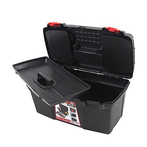 Kunststoff Werkzeugkoffer ERGO Profi 19,5″, 48x26cm Kasten Werzeugkiste Sortimentskasten Werkzeugkasten Anglerkoffer - 6